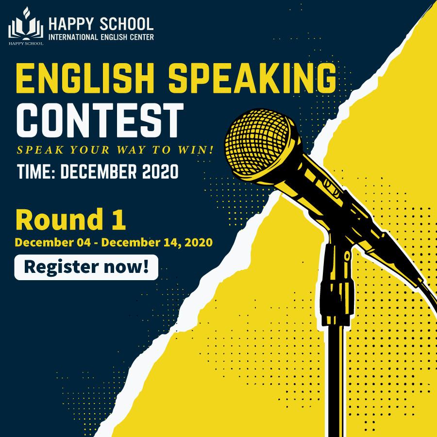 Happy School Speaking English Contest - Cuộc thi hùng biện tiếng Anh