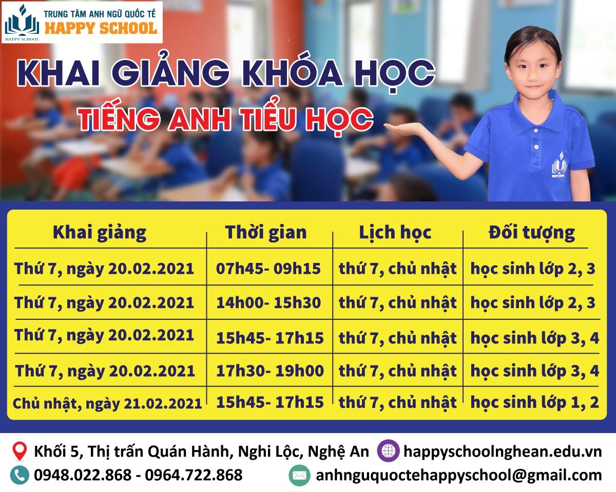 Khai giảng khóa học tiếng Anh Tiểu học- HAPPY KIDS